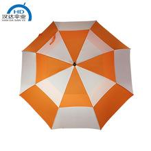 雨伞工厂生产定制30寸大双层透气防风伞加印logo长柄高尔夫广告伞