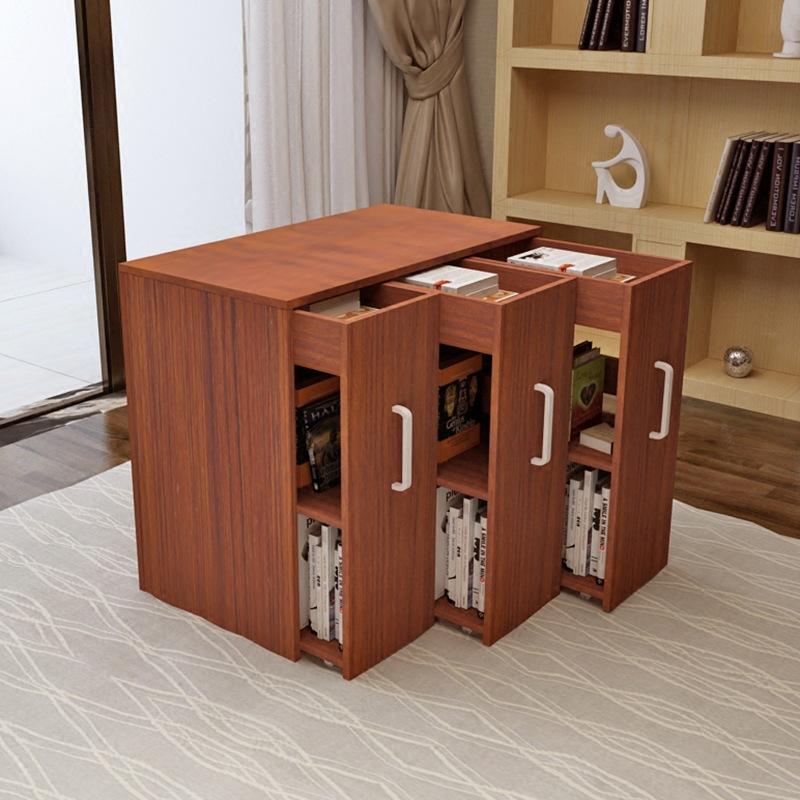 厂家批发现代儿童书柜简易书架抽拉式收纳柜带门大容量储物床头柜