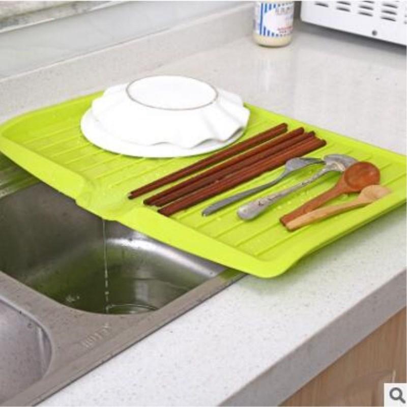 创意厨房沥水托盘长方形碗碟沥水架水果蔬菜沥水托盘餐具收纳盘