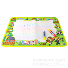 Happy Farm Animal Canvas Colorful Graffiti Water Canvas Clear Water Coloring Children's Puzzle Early Learning Toys