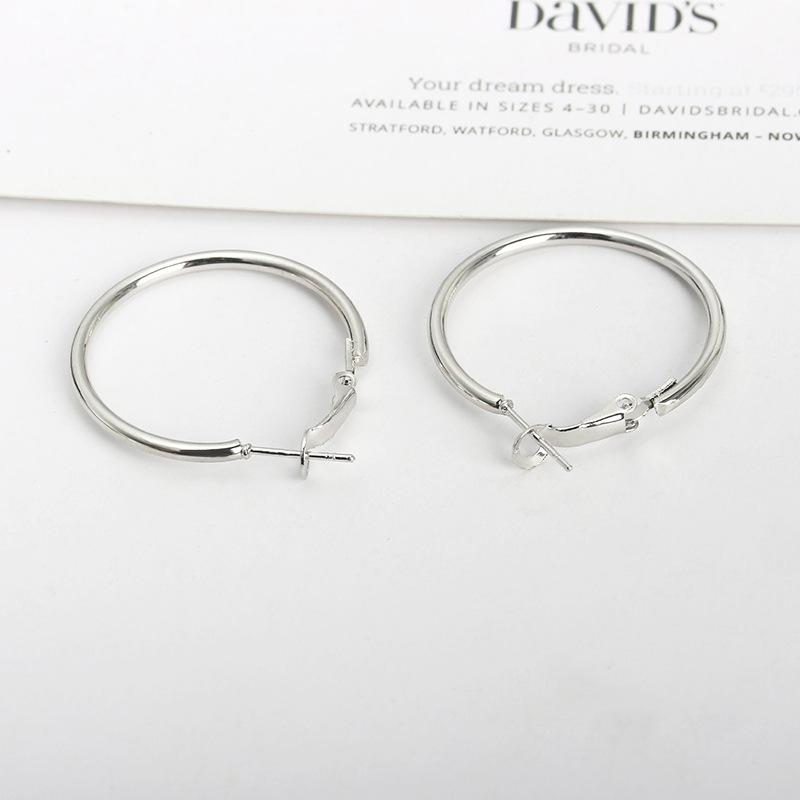 New Simple Geometric Circle Earrings Hypoallergenic Stainless Steel O-ring Hoop Earrings Wholesale NHCU197217