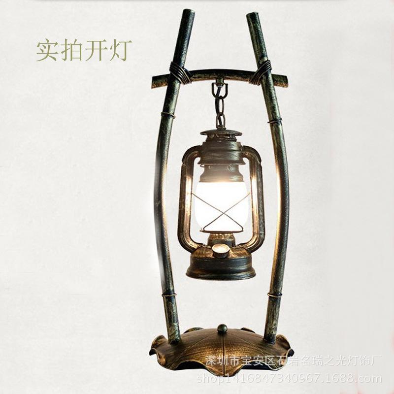 复古装饰台灯 客厅卧室书房台灯铁艺展厅灯创意中式仿古个性台灯