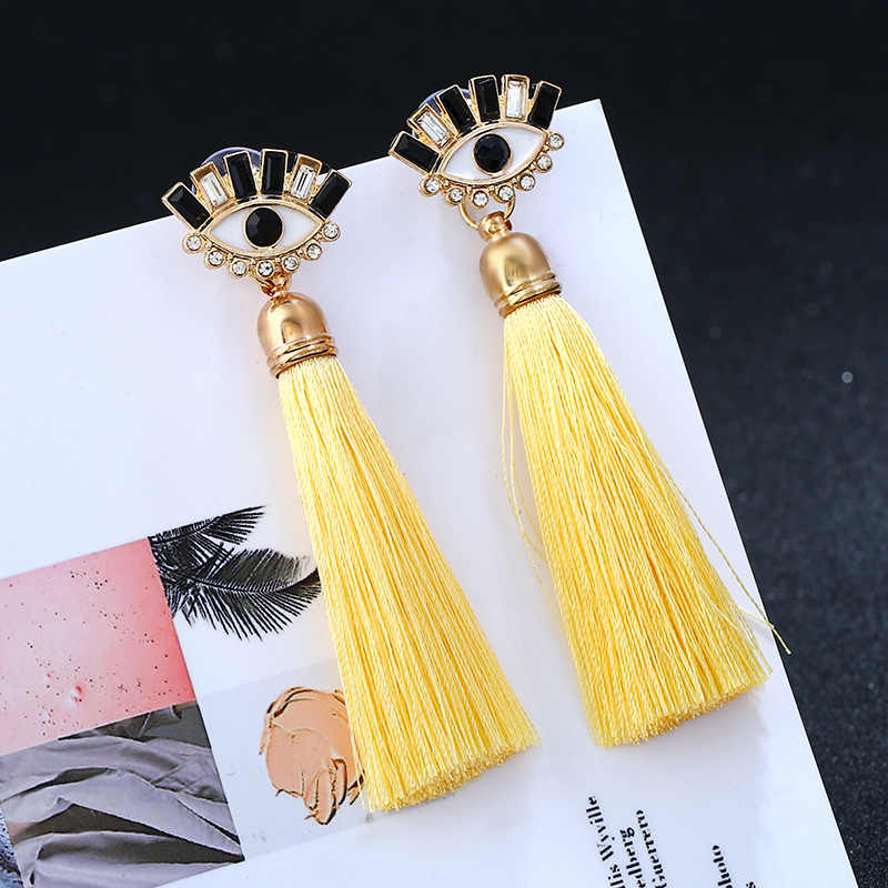 Occident and the United States alloy plating earring (yellow)NHVA4503-yellow