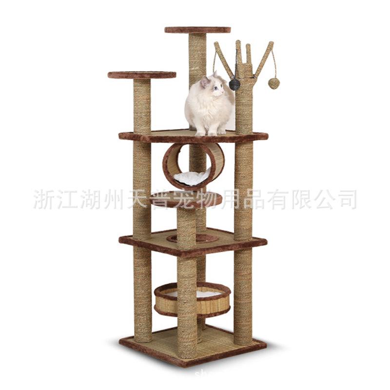 工厂直销大型猫爬架剑麻猫跳台猫抓柱草席猫咪玩具猫抓板猫架猫树