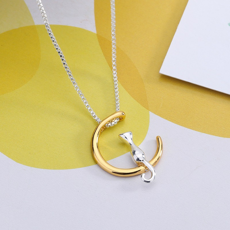 Cat On The Moon Necklace 4