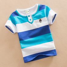 2020夏裝T恤雙領0-15歲大童夏季純棉圓領短袖童裝兒童速賣通外貿