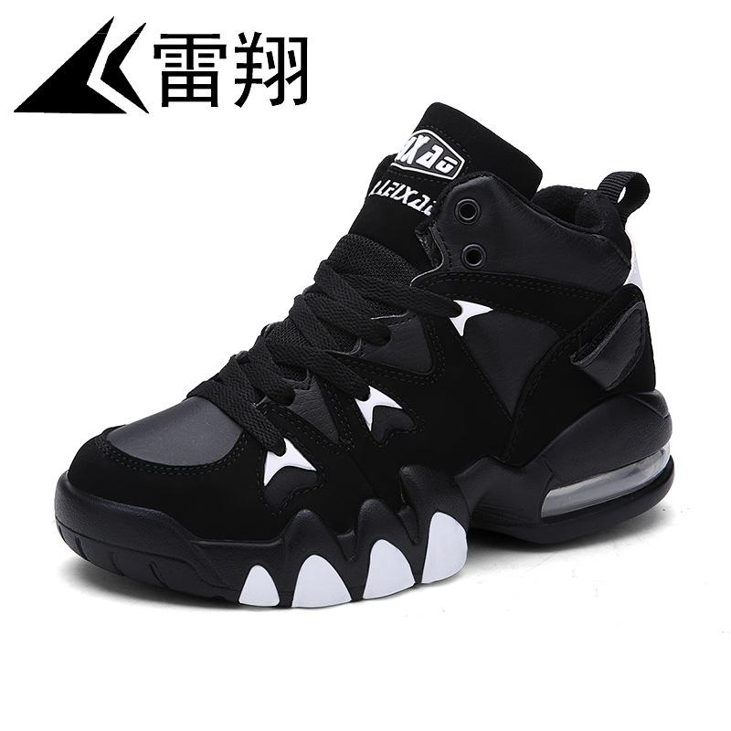 雷翔2019新款运动鞋跨境大码高帮气垫品牌篮球鞋情侣潮鞋男批发