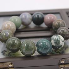 厂家直销天然印度玛瑙手链七彩石水草玛瑙?#20449;?#20315;珠手链