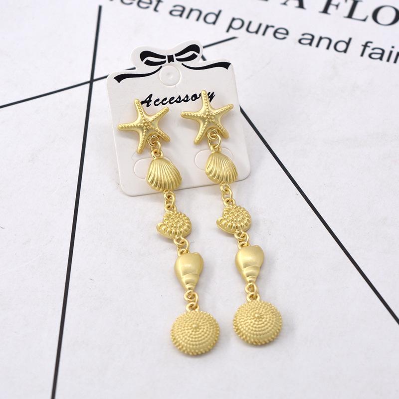 Alloy Fashion Geometric earring(Golden) NHNT0442-Golden