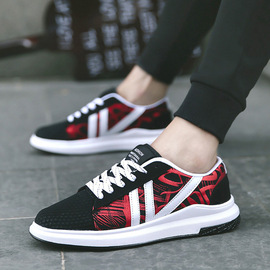 Xiaqiu new mesh shoes with men's students breathable trend graffiti casual shoes hole men's shoes