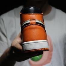 黑紅腳趾禁穿聯名喬1J高幫籃球鞋A4男女芝加哥蜘蛛俠熊貓一件代發