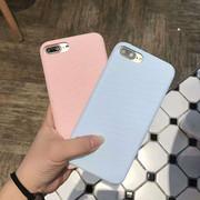 iPhone6S保护套苹果7plus素材壳i8布质斜纹全包iPhone10X手机壳