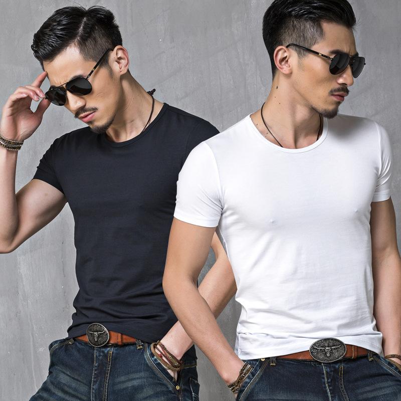 夏季男裝新款短袖t恤外貿原單男式定制t恤廣告衫文化衫班服9.9