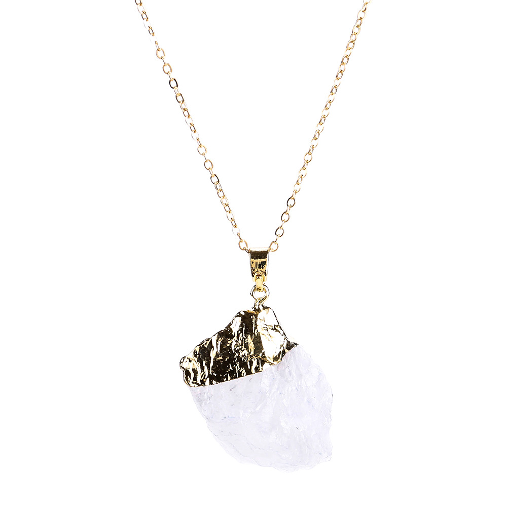 Exotic alloy plating necklace (purple)NHJE0438-purple