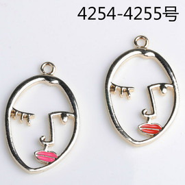 New large head affixed alloy pendant earrings pendant diy jewelry accessories 4254 ≈ 4255