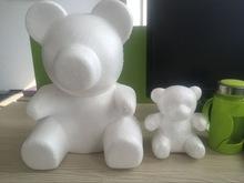 廠家直銷泡沫小熊白色DIY創意手工插花材料情人節玫瑰花熊抱玩具