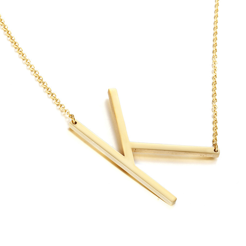 Simple Titanium steel  necklace (Alloy Z)  NHIM0364