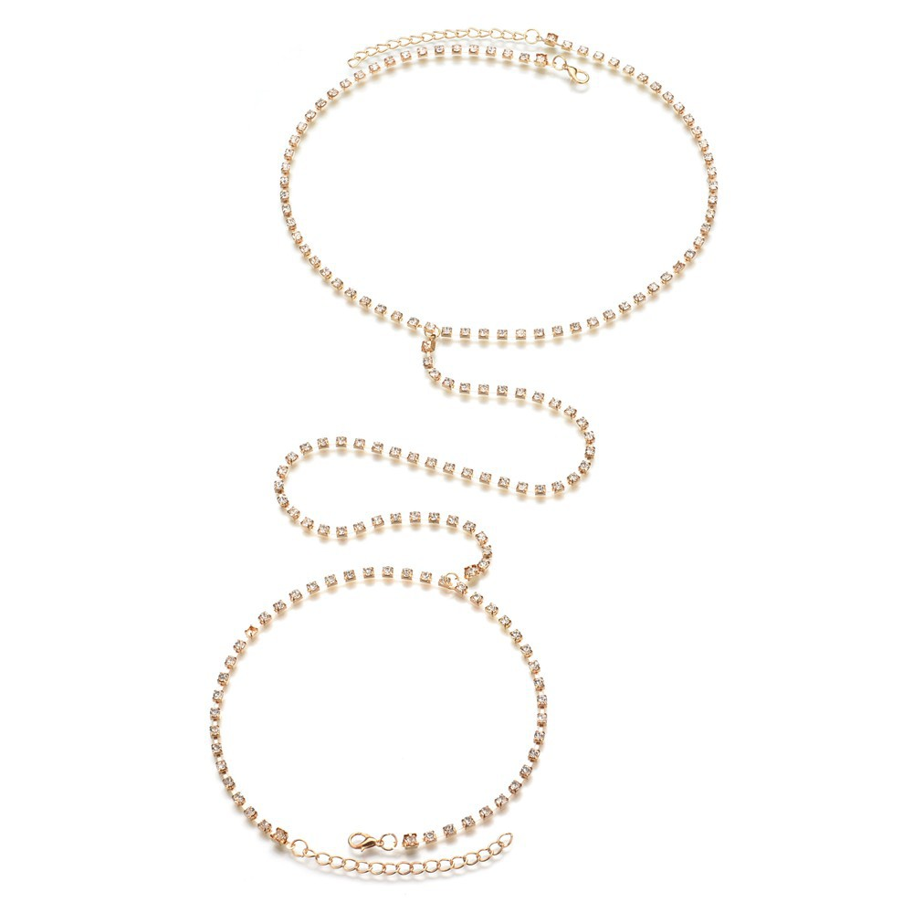 Occident and the United States alloy Diamond Body chain (Gold)NHBQ0995-Gold