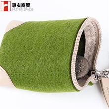 定制时尚创意毛毡零钱粽子小手包厂家直销新颖时尚毛毡零钱包男女