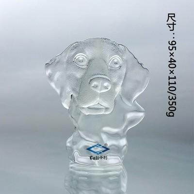 厂家供应水晶冰山工艺品礼品米格鲁猎犬 半立体水晶冰山米格鲁猎