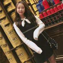 1233#秋冬新款女装潮气质可爱甜美毛衣两件套小香风女神范套装裙