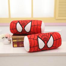 厂家批发3D卡通汽车头枕腰靠蜘蛛侠米妮套装车内饰品可水洗加拉链