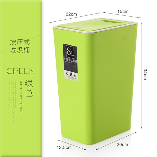 thùng chứa rác nhà tắm nhà bếp nhựa nhấn tùy chỉnh sáng tạo thùng rác thùng nắp bán buôn Thùng rác