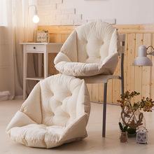 毛绒餐椅垫学生加厚保暖连体坐垫办公室护腰靠垫一体电脑椅垫工厂