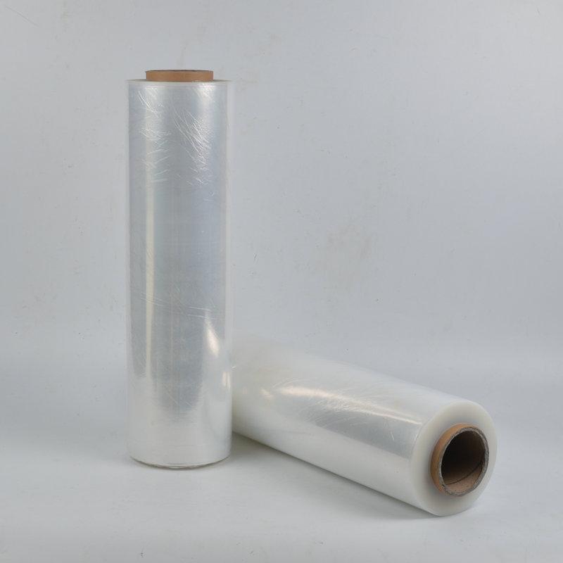 打包拉伸纏繞膜生產廠家 透明包裝薄膜 機用pe纏繞膜50cm寬