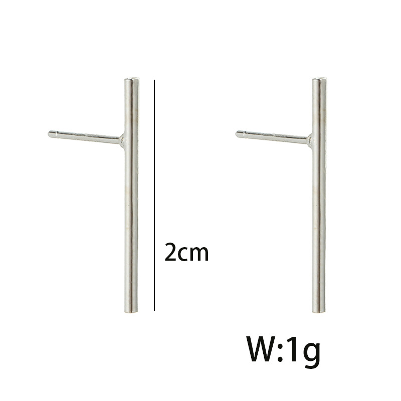 Simple alloy plating earring NHGY0656