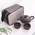 紫砂快客杯  一壶两杯 便携旅行茶具 原矿手抓紫砂壶茶具厂家