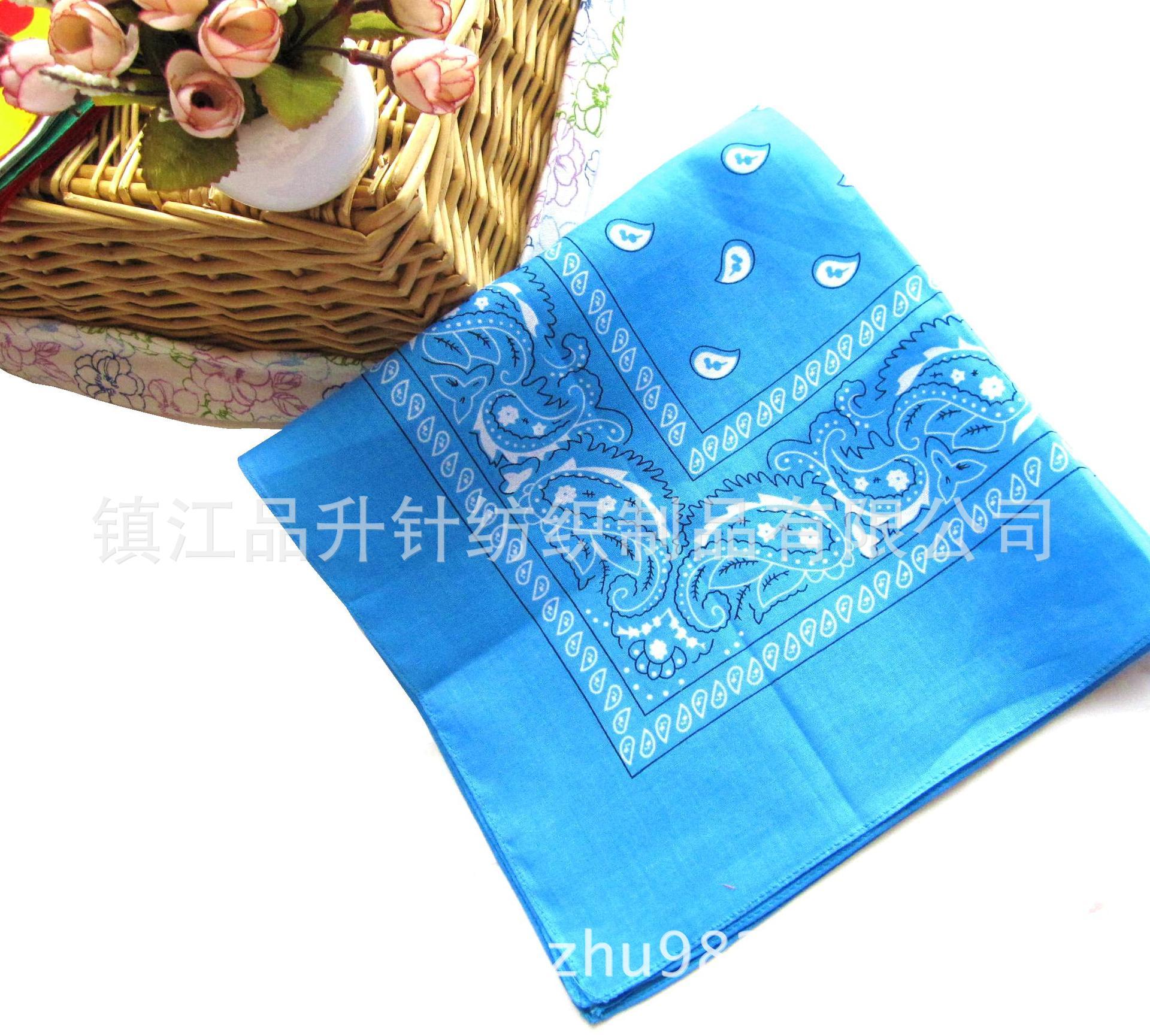 工厂定做纯棉印花头巾  球迷印花头巾 活性印花大方巾可定制LOGO