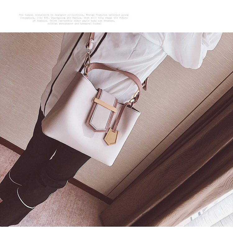 Korean version PUfashion bag (gray)NHPB0108-gray