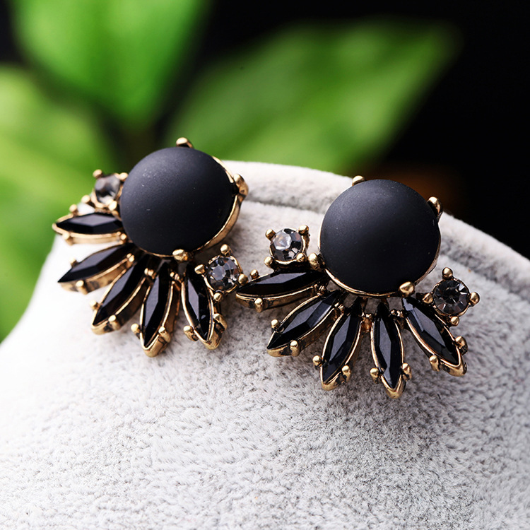 Jewelry Vintage Accessories Black Sexy Earrings NHQD174030