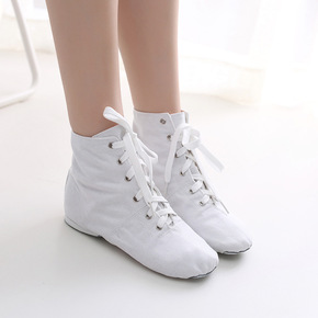 High top adult children's sail Jazz boots soft soled dance shoes training shoes women's modern dance shoes ballet shoes