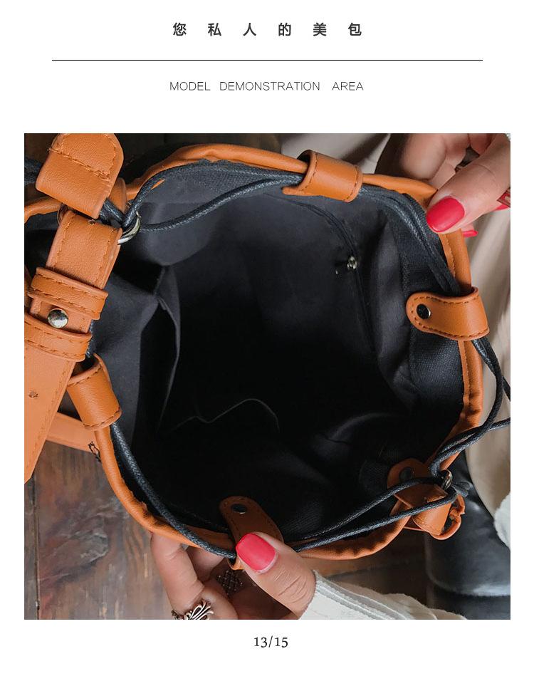 Korean version canvasfashion bag (black)NHPB0168-black