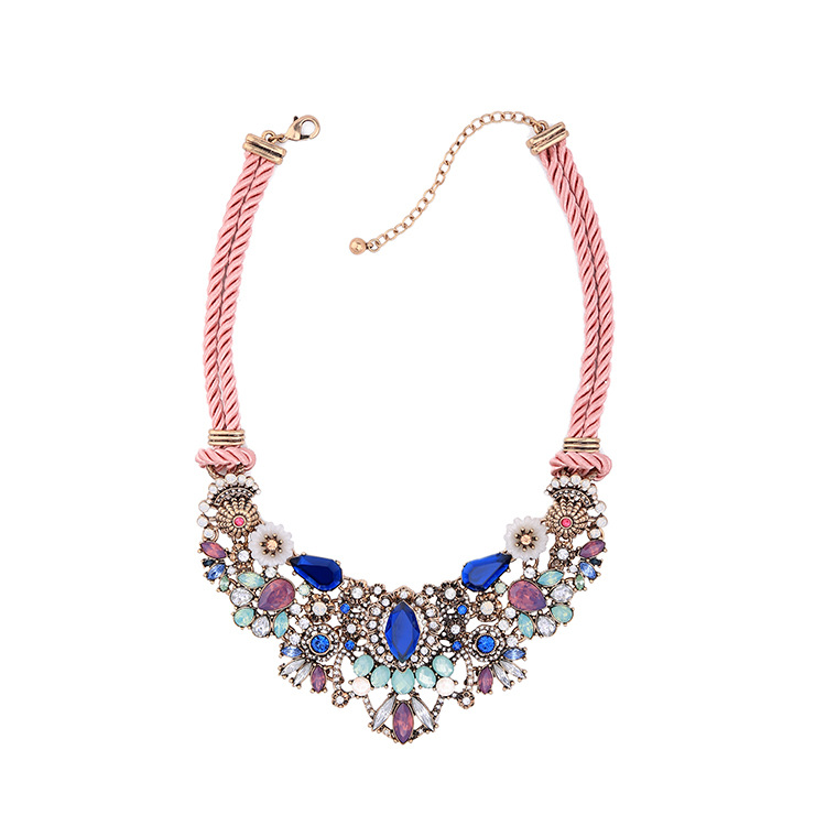 Occident and the United States alloy Diamond necklace NHQD3971