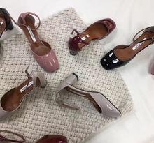 韩国代购韩版原版厂家批发浅口高跟一字带单鞋