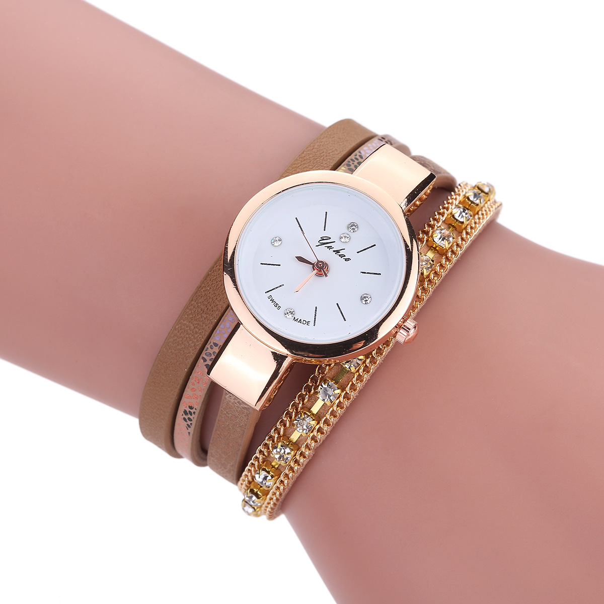 fashion Ladies watch (white)NHHK0897-white