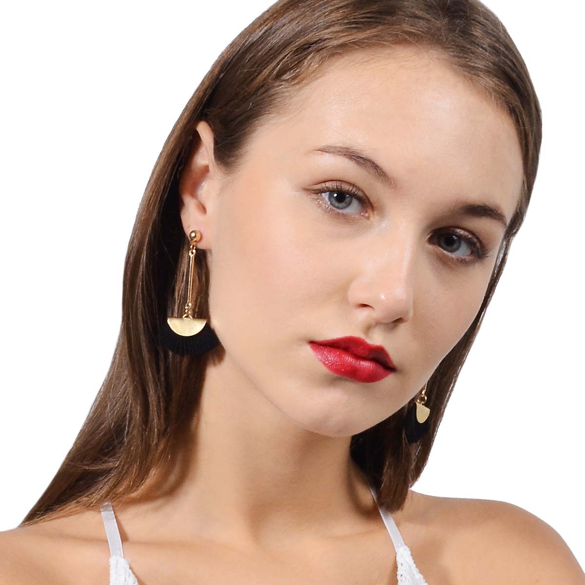 Occident and the United States alloy plating earring (B0815 wine red)NHXR1460-B0815 wine red