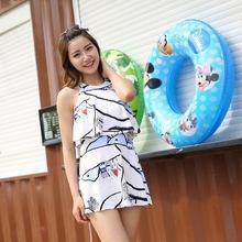 泳衣 女士 遮肚显瘦连体韩国学生温泉泳装性感小胸小清新游泳衣