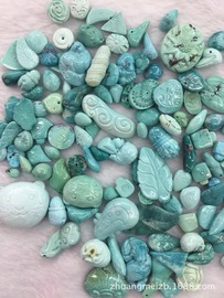 Magnificent gemstones Hubei natural turquoise carvings Small accessories Small pendants High in porcelain