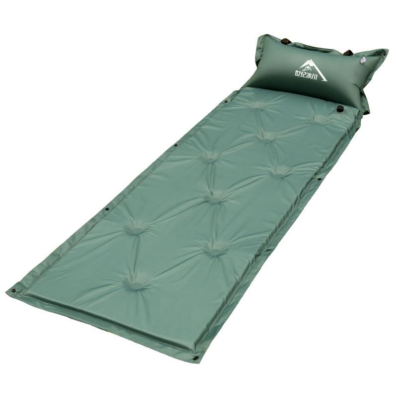 自动充气垫 可拼接成双人 九点自冲垫 加厚防潮户外野营睡垫厂家