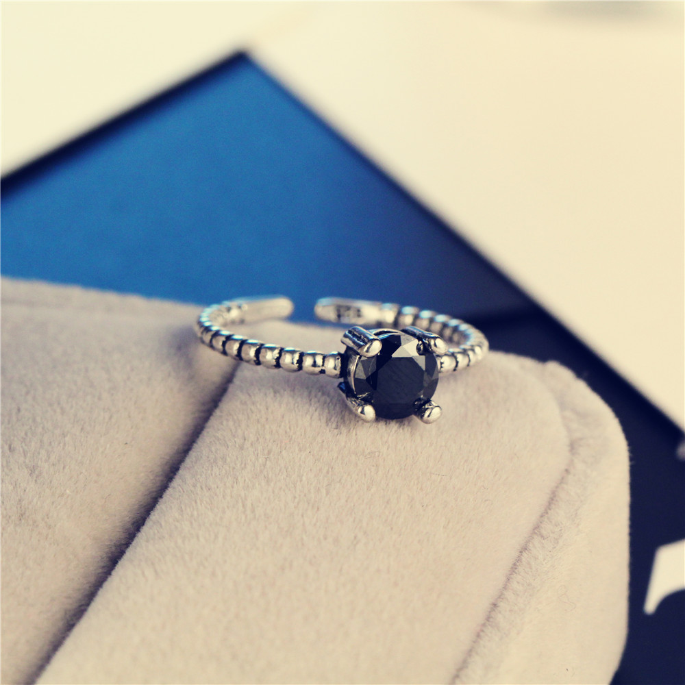 Retro alloy plating Ring (Ancient silver)NHIM0736-Ancient silver