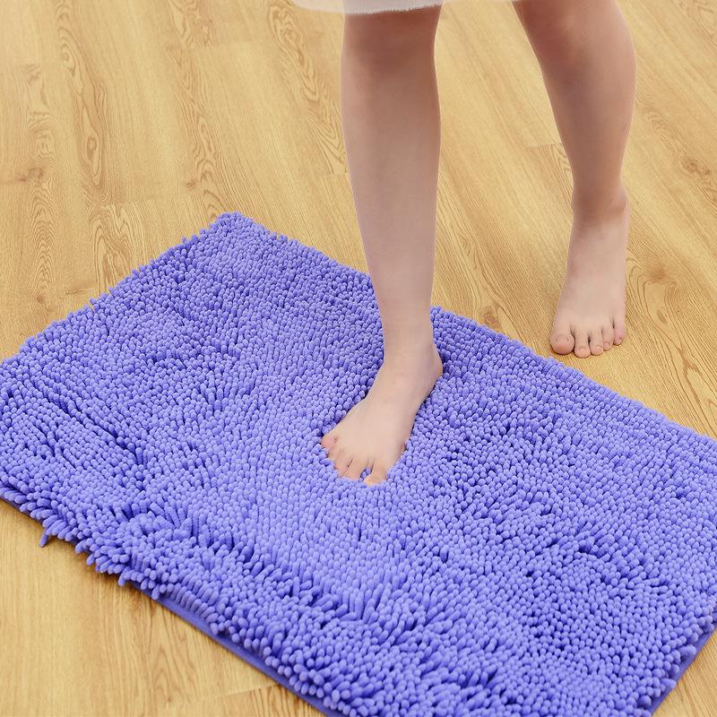 加密加厚超细纤维雪尼尔地垫地毯浴室卫生间吸水防滑垫门垫脚垫