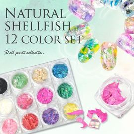 Japanese nail art station Japan ultra-thin color abalone shell shell shell powder nail jewelry patch