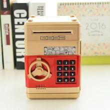 创意卡通ATM自动卷钱存钱罐 儿童密码取款机 智能密码保险箱