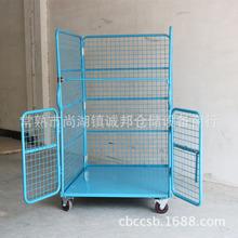 搬运设备 周转铁框折叠物流台车 仓库理货车 超市推车仓储笼车