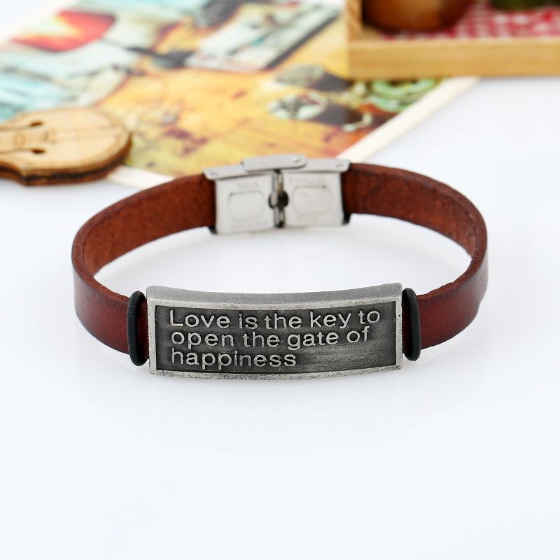 Leather jewelry wholesale couple leather bracelet NHPK178105