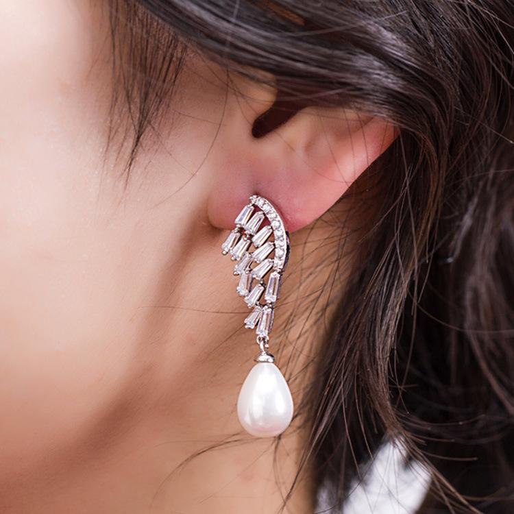 Fashion Alloy plating earring Geometric White alloy  NHLJ3563